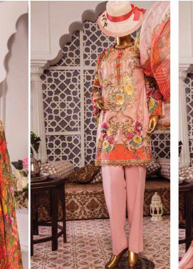 Naayaab Clothing Embroidered Lawn Unstitched 3 Piece Suit NY20D 4 - Spring / Summer Collection