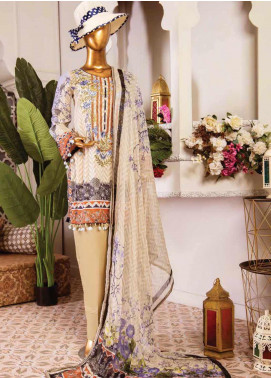 Naayaab Clothing Embroidered Lawn Unstitched 3 Piece Suit NY20D 5 - Spring / Summer Collection
