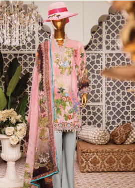 Naayaab Clothing Embroidered Lawn Unstitched 3 Piece Suit NY20D 6 - Spring / Summer Collection