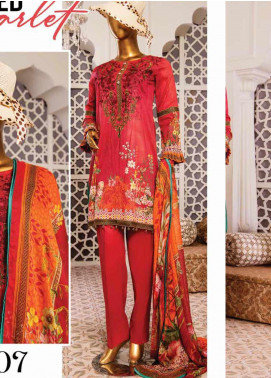 Naayaab Clothing Embroidered Lawn Unstitched 3 Piece Suit NY20D 7 - Spring / Summer Collection