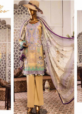 Naayaab Clothing Embroidered Lawn Unstitched 3 Piece Suit NY20D 8 - Spring / Summer Collection