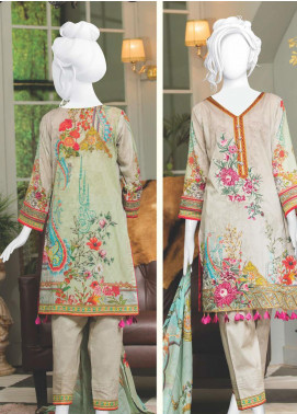Naayaab Clothing Embroidered Lawn Unstitched 3 Piece Suit NYD20-02 - Spring / Summer Collection
