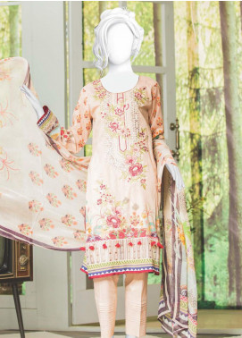 Naayaab Clothing Embroidered Lawn Unstitched 3 Piece Suit NYD20-07 - Spring / Summer Collection