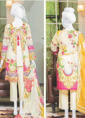 Naayaab Clothing Embroidered Lawn Unstitched 3 Piece Suit NYD20-08 - Spring / Summer Collection