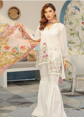 Puri Fabrics Embroidered Lawn Unstitched 3 Piece Suit P20NS 10 - Spring / Summer Collection