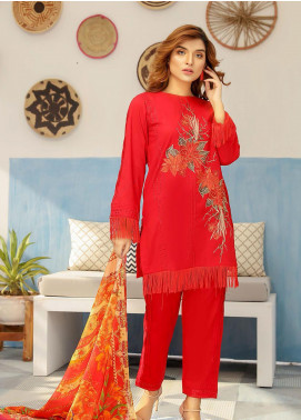 Puri Fabrics Embroidered Lawn Unstitched 3 Piece Suit P20NS 7 - Spring / Summer Collection