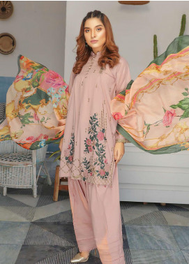 Puri Fabrics Embroidered Lawn Unstitched 3 Piece Suit P20NS 8 - Spring / Summer Collection