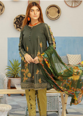 Puri Fabrics Embroidered Lawn Unstitched 3 Piece Suit P20NS 9 - Spring / Summer Collection