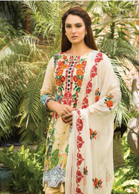 Nadia Hussain Embroidered Lawn Unstitched 3 Piece Suit NH19L 01 - Spring / Summer Collection