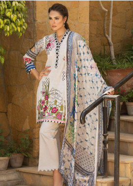 Nadia Hussain Embroidered Lawn Unstitched 3 Piece Suit NH19L 07 - Spring / Summer Collection