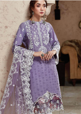 Nafasat by Resham Ghar Embroidered Lawn Unstitched 3 Piece Suit RG20N RGS-01 - Luxury Collection