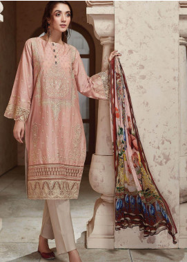 Nafasat by Resham Ghar Embroidered Lawn Unstitched 3 Piece Suit RG20N RGS-02 - Luxury Collection