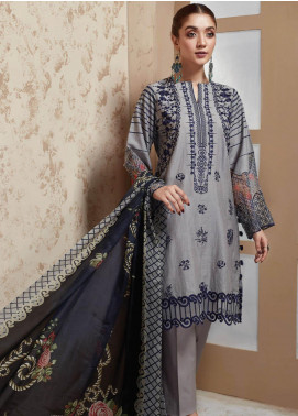 Nafasat by Resham Ghar Embroidered Lawn Unstitched 3 Piece Suit RG20N RGS-04 - Luxury Collection