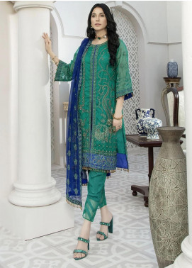 Nainsukh by House of Nawab Embroidered Organza Unstitched 3 Piece Suit HON20N 02 NILUFER - Luxury Collection