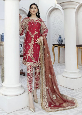 Nainsukh by House of Nawab Embroidered Organza Unstitched 3 Piece Suit HON20N 08 RAHAB - Luxury Collection