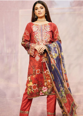 Naqsh by Florent Embroidered Lawn Unstitched 3 Piece Suit F20NQ 10A - Spring / Summer Collection