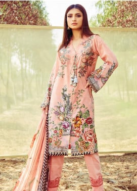 Naqsh by Florent Embroidered Lawn Unstitched 3 Piece Suit F20NQ 1A - Spring / Summer Collection
