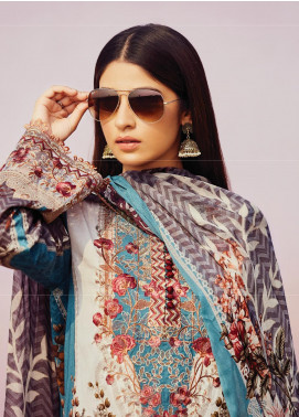 Naqsh by Florent Embroidered Lawn Unstitched 3 Piece Suit F20NQ 2A - Spring / Summer Collection