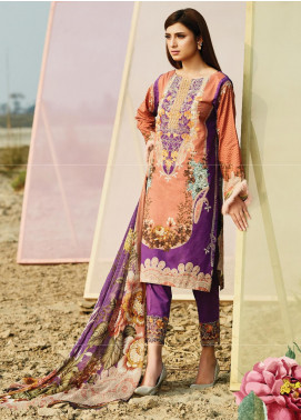 Naqsh by Florent Embroidered Lawn Unstitched 3 Piece Suit F20NQ 2B - Spring / Summer Collection
