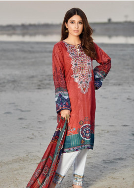 Naqsh by Florent Embroidered Lawn Unstitched 3 Piece Suit F20NQ 3A - Spring / Summer Collection