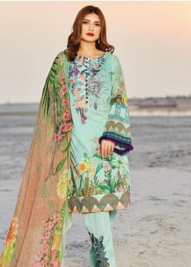 Naqsh by Florent Embroidered Lawn Unstitched 3 Piece Suit F20NQ 4A - Spring / Summer Collection