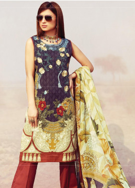 Naqsh by Florent Embroidered Lawn Unstitched 3 Piece Suit F20NQ 5B - Spring / Summer Collection