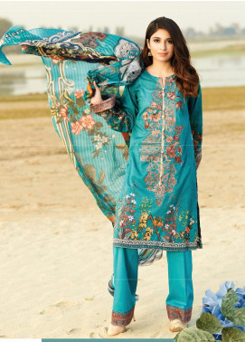 Naqsh by Florent Embroidered Lawn Unstitched 3 Piece Suit F20NQ 6A - Spring / Summer Collection