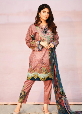 Naqsh by Florent Embroidered Lawn Unstitched 3 Piece Suit F20NQ 7A - Spring / Summer Collection