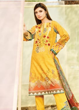 Naqsh by Florent Embroidered Lawn Unstitched 3 Piece Suit F20NQ 7B - Spring / Summer Collection