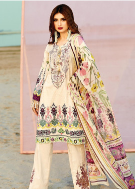 Naqsh by Florent Embroidered Lawn Unstitched 3 Piece Suit F20NQ 8A - Spring / Summer Collection