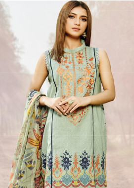 Naqsh by Florent Embroidered Lawn Unstitched 3 Piece Suit F20NQ 8B - Spring / Summer Collection