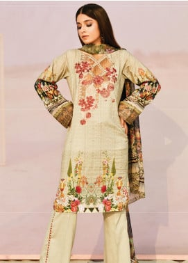 Naqsh by Florent Embroidered Lawn Unstitched 3 Piece Suit F20NQ 9A - Spring / Summer Collection