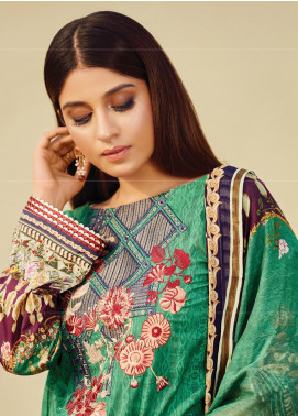 Naqsh by Florent Embroidered Lawn Unstitched 3 Piece Suit F20NQ 9B - Spring / Summer Collection