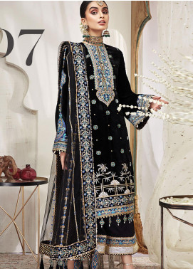 Nargis by Anaya Embroidered Velvet Unstitched 3 Piece Suit AKC20KR 07 Layla - Wedding Collection