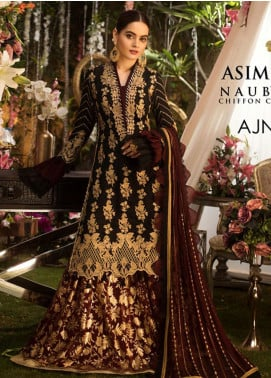 Naubahar by Asim Jofa Embroidered Raw Silk Unstitched 3 Piece Suit N20AJ 01 - Luxury Collection