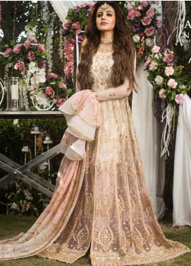 Naubahar by Asim Jofa Embroidered Net Unstitched 3 Piece Suit N20AJ 03 - Luxury Collection