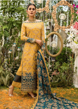 Naubahar by Asim Jofa Embroidered Raw Silk Unstitched 3 Piece Suit N20AJ 04 - Luxury Collection