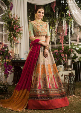 Naubahar by Asim Jofa Embroidered Raw Silk Unstitched 3 Piece Suit N20AJ 05 - Luxury Collection