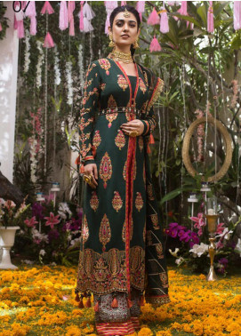 Naubahar by Asim Jofa Embroidered Raw Silk Unstitched 3 Piece Suit N20AJ 07 - Luxury Collection