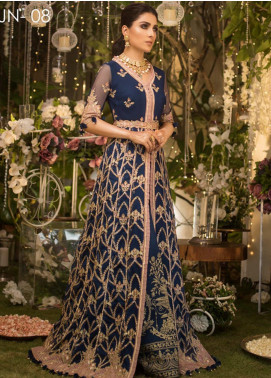 Naubahar by Asim Jofa Embroidered Net Unstitched 3 Piece Suit N20AJ 08 - Luxury Collection