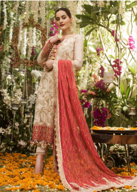 Naubahar by Asim Jofa Embroidered Raw Silk Unstitched 3 Piece Suit N20AJ 09 - Luxury Collection