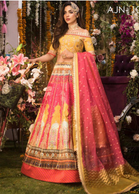 Naubahar by Asim Jofa Embroidered Raw Silk Unstitched 3 Piece Suit N20AJ 10 - Luxury Collection