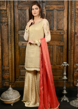 Naghma's Embroidered  Stitched 3 Piece Suit NGM18C 01