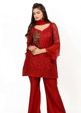 Naghma's Embroidered  Stitched 3 Piece Suit NGM18C 03