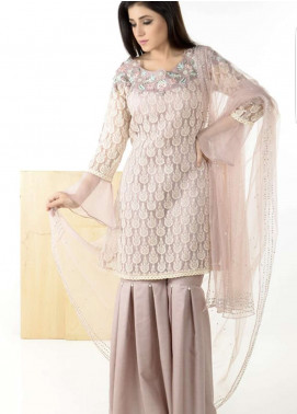 Naghma's Embroidered  Stitched 3 Piece Suit NGM18C 04