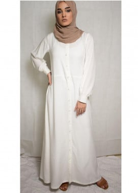 Nida Gul Fancy Cotton Stitched Maxi NG20MD D-302 Adara Maxi Dress with Hijab