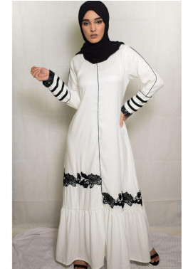 Nida Gul Fancy Korean Nida Stitched Maxi NG20MD D-303 Dunia Evening Maxi Dress with Hijab