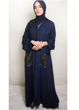 Nida Gul Fancy Korean Nida Stitched Maxi NG20MD D-306 Zenia Evening Abaya with Hijab
