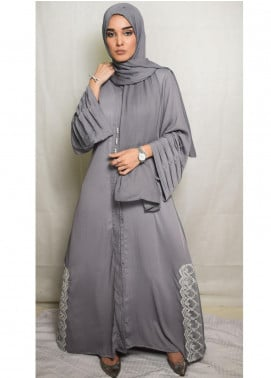 Nida Gul Fancy Korean Nida Stitched Maxi NG20MD D-308 Neesa Evening Abaya with Hijab
