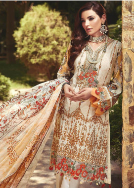 Nisa by Mohagni Embroidered Lawn Unstitched 3 Piece Suit MO20N MDE-04 - Festive Collection